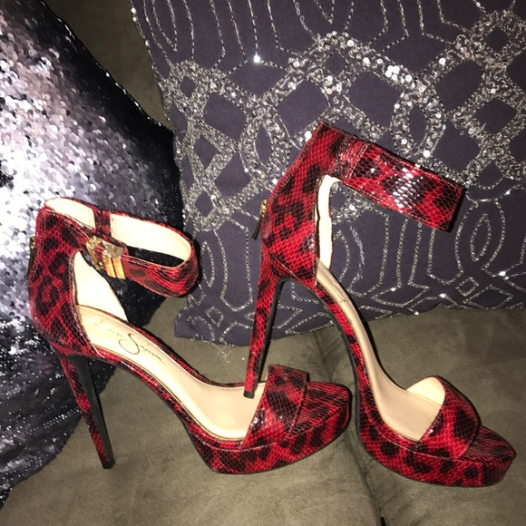 Leopard Jessica Simpson Heels   Poshmark